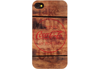 coca cola coca cola hardcover coke wood iphone 4 4s media markt. Black Bedroom Furniture Sets. Home Design Ideas