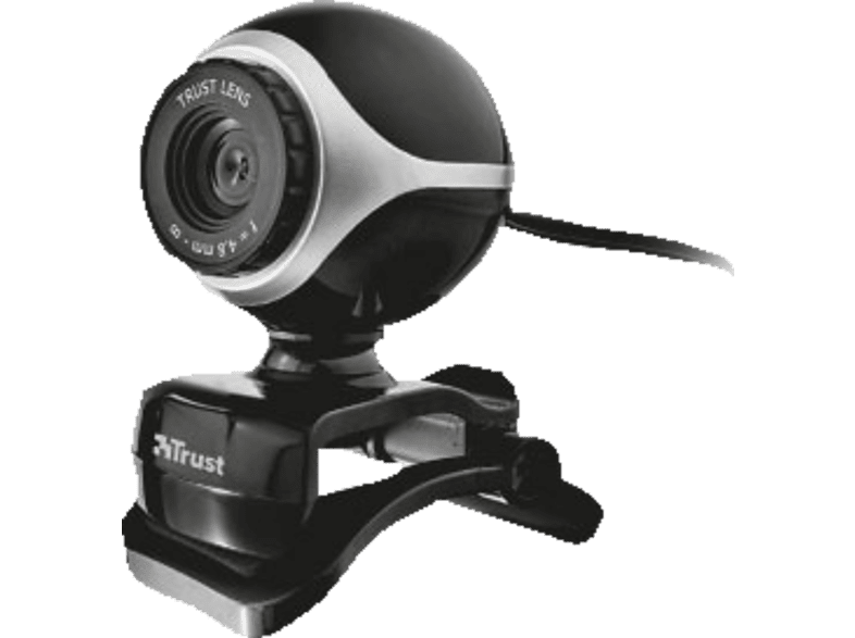 TRUST Exis Webcam Black/ Silver - (17003) laptop  tablet  computing  περιφερειακά webcam