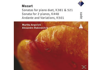 Martha Argerich, Alexandre Rabinovitch - Sonatas For Piano Duet/Sonata For 2 Pianos/Andante And Variations [CD]
