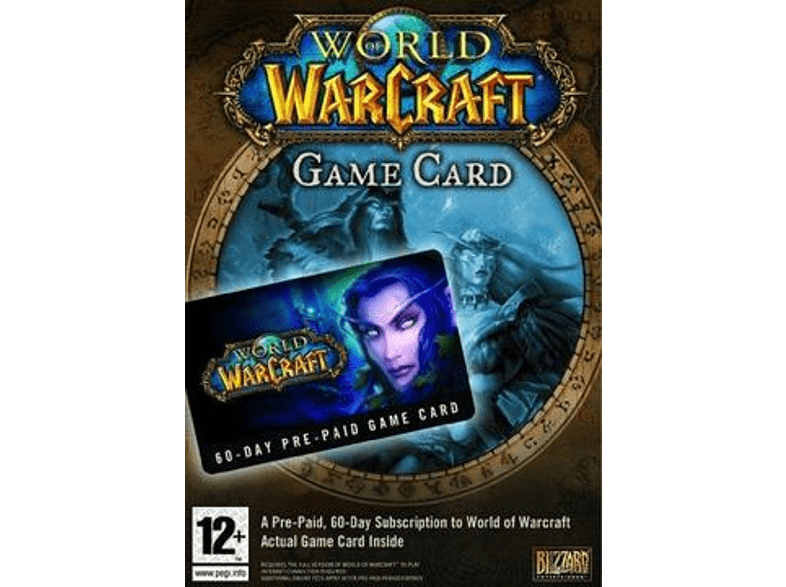 World of Warcraft Game Time Card