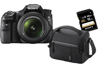 sony slt a58k bundle inkl tasche und 16gb sd karte dslr. Black Bedroom Furniture Sets. Home Design Ideas