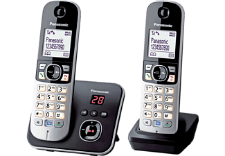 panasonic kx tg6822 dect schnurloses telefon schwarz. Black Bedroom Furniture Sets. Home Design Ideas