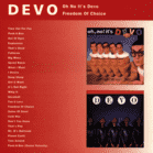 Devo - FREEDOM OF CHOICE [CD] - broschei