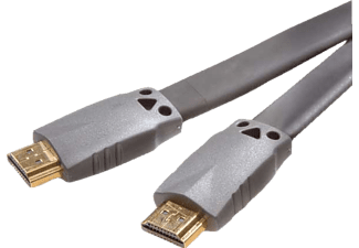 VIVANCO HDMI High Speed kabel, flat/guld, 1.5m