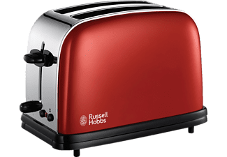 RUSSELL HOBBS 18951-56 FLAME RED Toaster Rot/Chrom/Schwarz ()