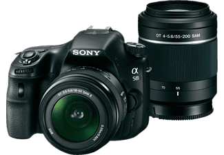 SONY Alpha SLT-A58Y + 18-55mm + 55-200mm Zwart