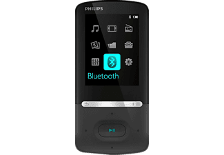 PHILIPS SA5AZU08KF/12 GoGear, MP4 Player, 8 GB, Akkulaufzeit: 35 Std. (Audio), 6 Std. (Video), Schwarz