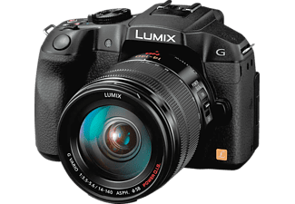 PANASONIC Lumix DMC-G6H Systemkamera 16.1 Megapixel mit Objektiv 14-140 mm f/3.5-5.6, 7.5 cm Display  , WLAN