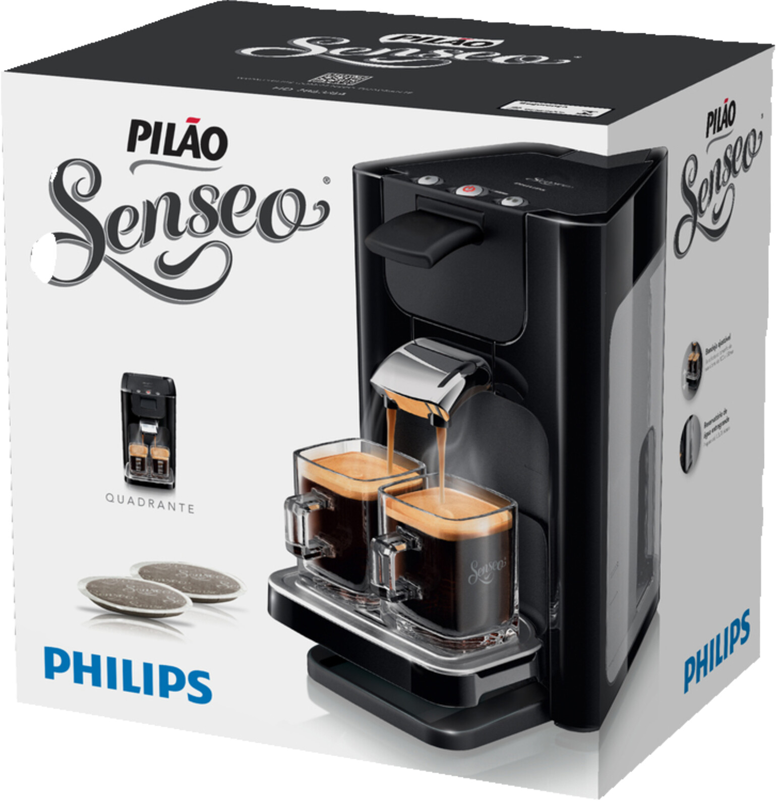 philips senseo quadrante hd7863 60 padmaschine 1 2 liter schwarz ebay. Black Bedroom Furniture Sets. Home Design Ideas