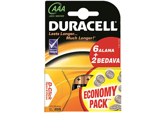 DURACELL 81315568 AAA 8 Adet İnce Kalem Pil