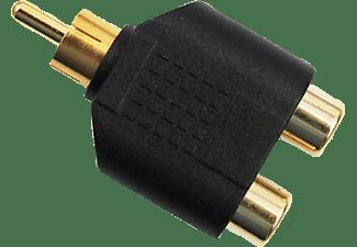 aiv 890824 cinch y stecker auf 2xbuchse schwarz adapter kabel mediamarkt. Black Bedroom Furniture Sets. Home Design Ideas