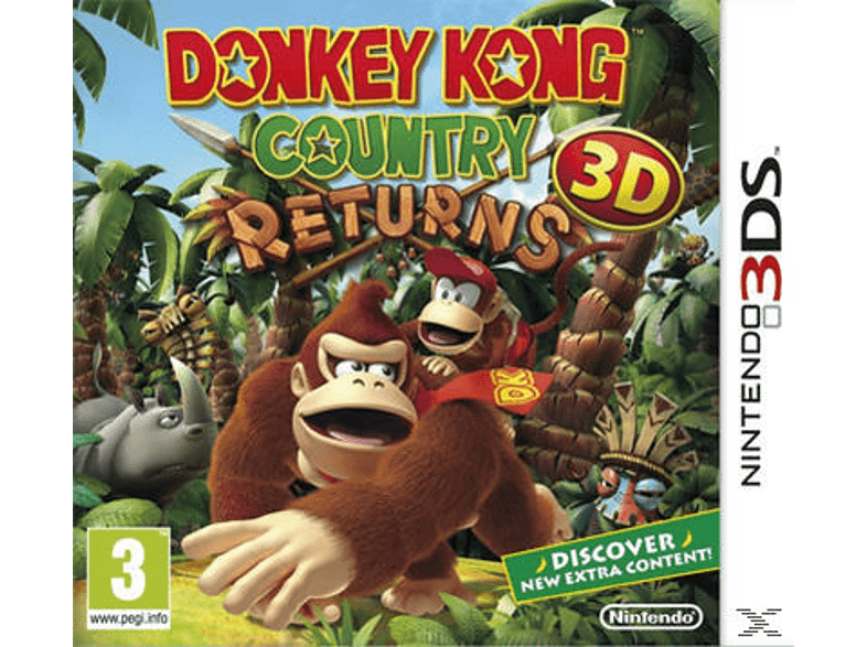 Donkey Kong Country Returns Nintendo 3DS gaming φορητές κονσόλες games 2ds  3ds