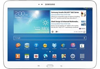 SAMSUNG GT P5210 Galaxy Tab 3 10,1 inç Z2560 1,6 GHz 16 GB Beyaz Tablet