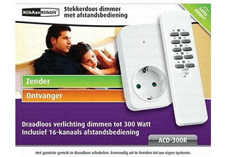 KLIKAANKLIKUIT ACD300R Contactdoos dimmer met afstandsbediening ...