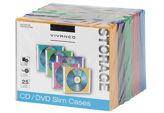 VIVANCO 31700 CD/DVD Slim Case - 25 Stuks