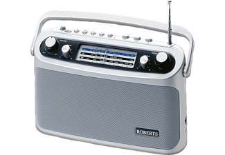 ROBERTS R 9928, Tragbares Radio, UKW, MW, LW, Silber