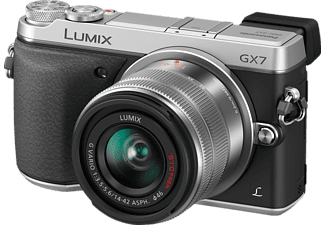 PANASONIC Lumix DMC-GX 7 KEG Systemkamera 16 Megapixel mit Objektiv 14-42 mm f/3.5-5.6, 7.5 cm Display  , WLAN