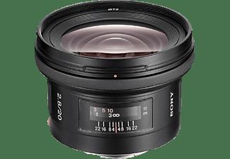 SONY SAL20F28 20 mm-20 mm Objektiv f/2,8, System: A-Objektiv von Sony, Schwarz
