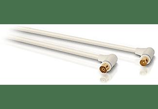 COAX kabel met hoek 1,5 m Wit