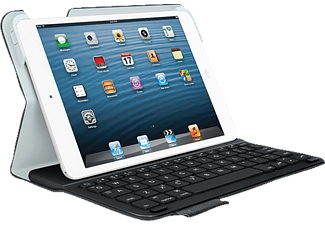 LOGITECH Ultrathin Keyboard Folio, Bookcover, 7.9 Zoll, iPad mini/Retina, Schwarz