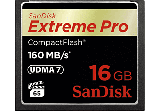SANDISK Extreme Pro, Compact Flash Speicherkarte, 16 GB, 160 MB/s