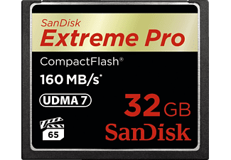 SANDISK Extreme Pro, Compact Flash Speicherkarte, 32 GB, 160 MB/s