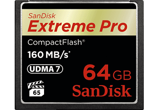 SANDISK Extreme Pro, Compact Flash Speicherkarte, 64 GB, 160 MB/s