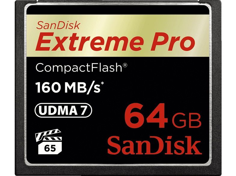 SAN DISK Extreme PRO CompactFlash 64GB - (SDCFXPS-064G-X46) laptop  tablet  computing  tablet   ipad κάρτες μνήμης hobby   φωτογραφία φωτογρ