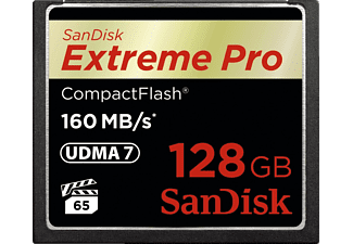 SANDISK Extreme Pro, Compact Flash Speicherkarte, 128 GB, 160 MB/s