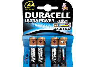 DURACELL BATTERY ULTRA POWER ALKALINE AA 4PK