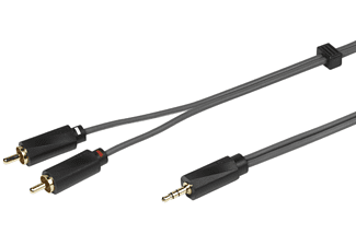 VIVANCO Audiokabel 1x 3,5mm jackplug - 2x RCA(M) 3m