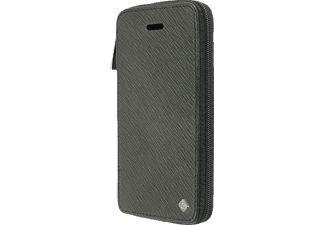 TELILEO 3511 Zip Bookcover Apple iPhone 5, iPhone 5s Polycarbonat/Echtleder Schwarz