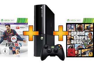 microsoft microsoft xbox 360 250gb inkl fifa 14 gta 5. Black Bedroom Furniture Sets. Home Design Ideas