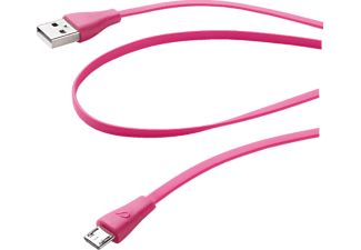 CELLULAR LINE 35311, USB Daten-Kabel, 1.0 m, Pink
