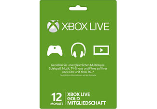 xbox live 12 monate gold mitgliedschaft xbox live online. Black Bedroom Furniture Sets. Home Design Ideas