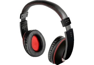 isy ihp 500 comfort headphones schwarz rot hifi kopfh rer schwarz rot g nstig bei saturn bestellen. Black Bedroom Furniture Sets. Home Design Ideas