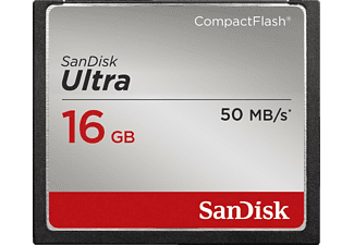 SANDISK Ultra, Compact Flash Speicherkarte, 16 GB, 50 MB/s