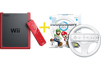 nintendo wii mini mario kart wii inkl lenkrad mediamarkt. Black Bedroom Furniture Sets. Home Design Ideas