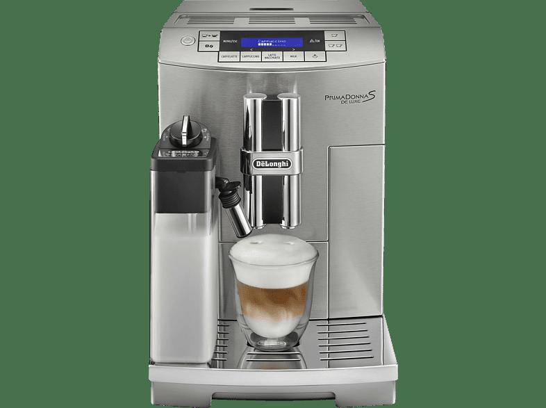 DELONGHI ECAM 28.466 MB PrimaDonna, Kaffeevollautomat, 1.8 Liter Wassertank, 15 bar, Silber/Schwarz