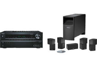 bose 5 1 heimkino system acoustimass 10 onkyo tx nr525 schwarz mediamarkt. Black Bedroom Furniture Sets. Home Design Ideas