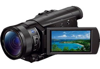 SONY FDR-AX 100 EB  Camcorder, Exmor R CMOS Sensor, Carl Zeiss, 12x opt. Zoom, Bildstabilisator, Near Field Communication, WLAN, Schwarz