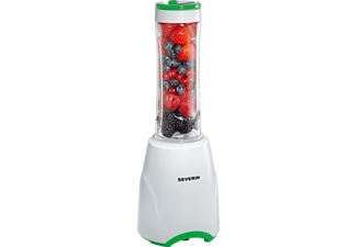 SEVERIN SM 3735, Smoothie Maker, 300 Watt, Weiß/Grün