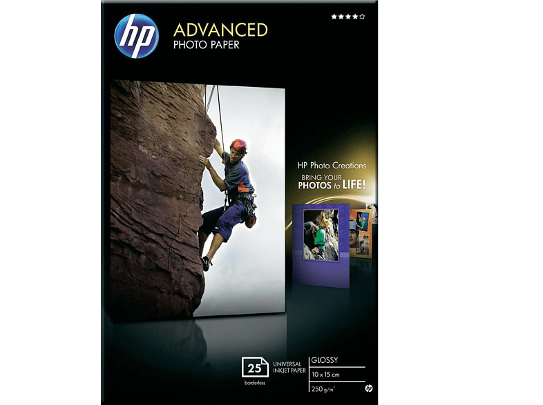 HEWLETT PACKARD Advanced Glossy Photo Paper Snapshot size support - (Q8691A) laptop  tablet  computing  εκτύπωση   μελάνια χαρτί εκτύπωσης computing   tablet