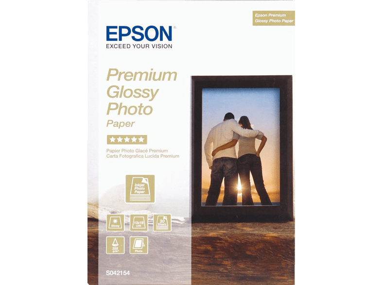 EPSON Premium Glossy Photo Paper 13 x 18 - (S042154) laptop  tablet  computing  εκτύπωση   μελάνια χαρτί εκτύπωσης computing   tablet