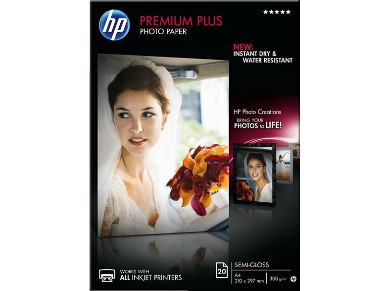 HEWLETT PACKARD Premium Plus Semi-gloss Photo Paper A4 - (CR673A) laptop  tablet  computing  εκτύπωση   μελάνια χαρτί εκτύπωσης computing   tablet