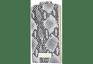 VALENTA Leather Flip Animal Snake Case iPhone 5 Grijs