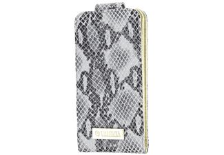 VALENTA Leather Flip Animal Snake Case iPhone 5 Grijs