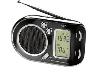 AEG. WE 4125 Radio (FM, AM, SW, Schwarz)