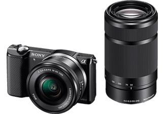 SONY Alpha A5000 kit + 16-50mm + 55-210mm Zwart