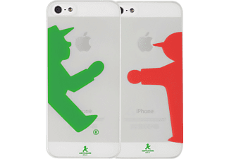 ARTWIZZ Rubber Clip Light, Apple, Backcover, iPhone 5, iPhone 5s, Polycarbonat, Transparent/Grün